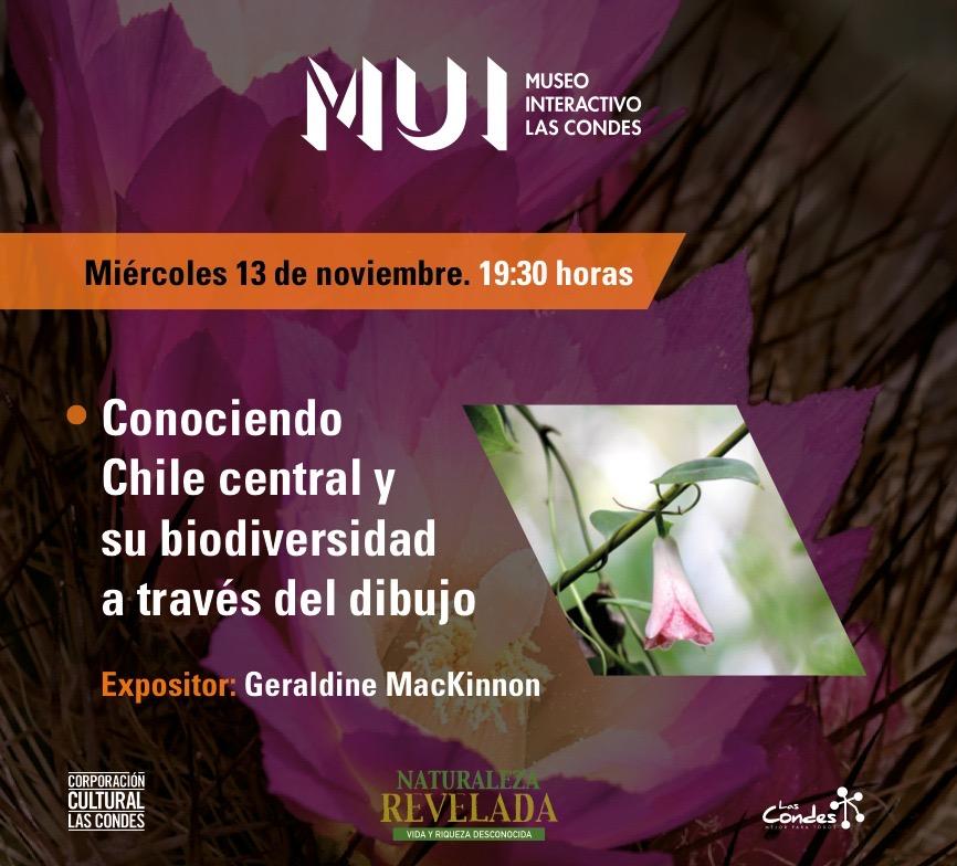 """Charla """"Conociendo Chile central y su biodiversidad a través del dibujo"""" @ Museo Interactivo Las Condes"""